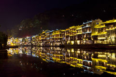 Fenghuang Ancient Town At Night Royalty Free Stock Photos