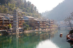 Fenghuang ancient town China Royalty Free Stock Images