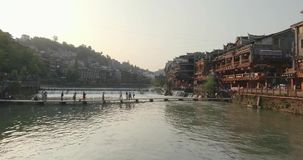 Fenghuang Ancient Town stock video footage