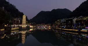 Fenghuang Ancient Town. stock footage