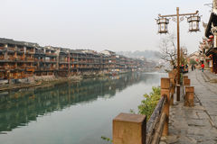 Fenghuang Ancient Town. Located in Fenghuang County. Southwest of HuNan Province, China Stock Image
