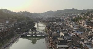 Fenghuang Ancient Town stock video
