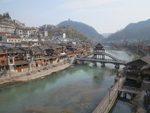 Fenghuang, cidade antiga em China Fotografia de Stock Royalty Free