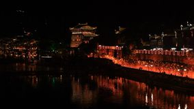 Fenghuang City Evening stock footage