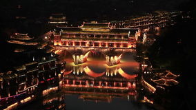Fenghuang City Night stock video