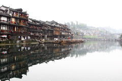 Fenghuang County. Is located in Xiangxi Prefecture, Hunan Province, People's Republic of China Royalty Free Stock Image