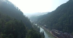 Fenghuang County in China stock video