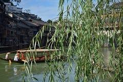 Fenghuang forntida stad, Hunan landskap, Kina Den mest härliga forntida staden i Kina Arkivfoto
