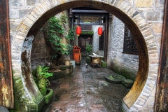 Fenghuang hallway with round entrance Royalty Free Stock Image