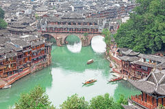 Fenghuang Historical Center River Boats China Royalty Free Stock Image