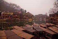Fenghuang Hunan landskap, sydliga Kina Royaltyfria Bilder