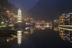 Fenghuang Hunan landskap, sydliga Kina Arkivfoto