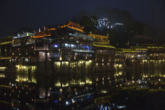Fenghuang, Hunan Province, Southern China. Historic City of Fenghuang in the souther China during Chinese New Year Royalty Free Stock Image