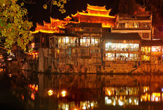 Fenghuang by night Stock Image