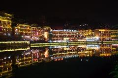 fenghuang noc miasteczko Zdjęcie Stock