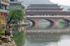 Fenghuang old town morning view Royalty Free Stock Image