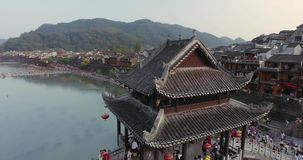 Fenghuang oude stad stock video
