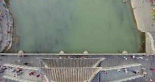 Fenghuang Oude Stad bij Zonsondergang stock videobeelden