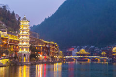 Fenghuang oude stad China stock foto's