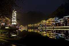 Fenghuang, província de Hunan, China do sul Foto de Stock