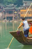 Fenghuang Traditional Boatman River Tourist Boat Royalty Free Stock Images