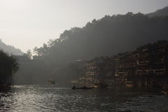 Fenghuang Tuo River in Hunan Stock Foto's
