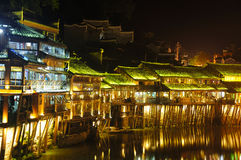 Fenghuang Village China at Night Royalty Free Stock Photo