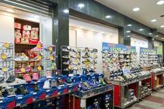 fengjia市场晚上鞋店体育运动 库存图片