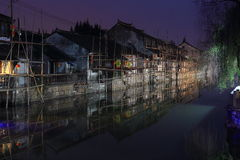 Fengjing Town at Night at autumn Stock Image