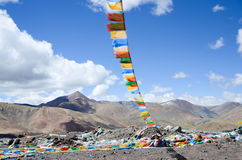 The Fengma flag in Tibet Stock Image