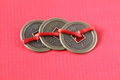 Fengshui chinese coins Royalty Free Stock Photos