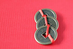 Fengshui chinese coins Royalty Free Stock Image