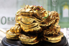 Fengshui money  frog. Symbol of luck in finance Royalty Free Stock Image