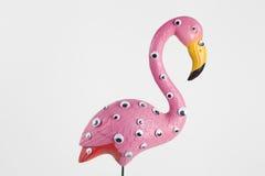 Fenicottero di plastica rosa strano Fotografia Stock