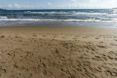 Feniglia plaża W Tuscany W letnim dniu Obraz Royalty Free