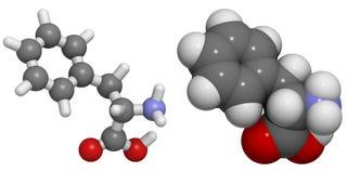 Fenilalanina (Phe, F) molecola Fotografie Stock