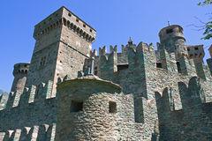 Fenis castle - Aosta - Italy Royalty Free Stock Image