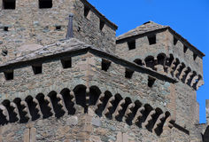 Fenis Castle - Aosta Valley - Italy Royalty Free Stock Photo