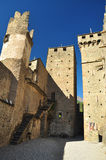 Medieval castle Fenis, inner court. Aosta valley, Italy Royalty Free Stock Photos