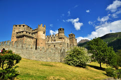 Fenis Castle, an Italian medieval castle Royalty Free Stock Images