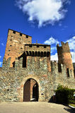 Fenis Castle, an Italian medieval castle Royalty Free Stock Photography