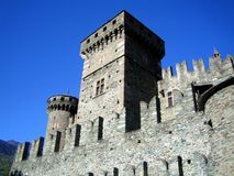 The Fenis Castle, located near Aosta, Italy Royalty Free Stock Image