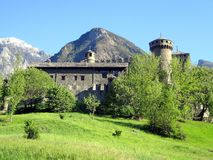 The Fenis Castle, located near Aosta, Italy Stock Image