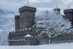 Fenis castle Stock Photography