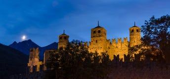 Fenis kasztel, Aosta dolina Obrazy Royalty Free