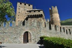 Fenis kasztel, Aosta dolina, Włochy Obrazy Royalty Free