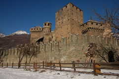 2 Fenis kasztel Aosta, Włochy - Obrazy Stock