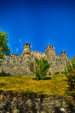 Fenis kasztel, Włoski średniowieczny kasztel Zdjęcie Royalty Free