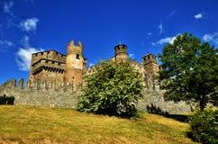 Fenis kasztel, Włoski średniowieczny kasztel Obraz Stock