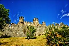 Fenis kasztel, Włoski średniowieczny kasztel Zdjęcia Stock